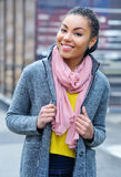 Portrait of an adorable young mixed race woman Royalty Free Stock Images