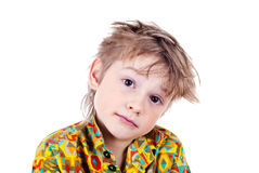 Portrait of an adorable young preschool boy Stock Photography