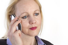 Portrait of an adult beautiful business woman. Royalty Free Stock Photos