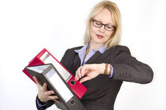 Portrait of an adult beautiful business woman. Stock Images