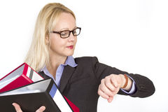Portrait of an adult beautiful business woman. Royalty Free Stock Photography