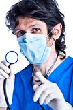 The portrait of adult doctor Royalty Free Stock Photos