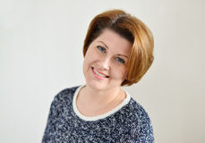 Portrait of the adult female Stock Images