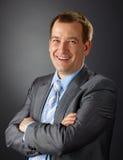 Portrait of adult handsome businessman Stock Image