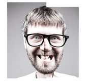 Portrait of a adult man with facial expression Royalty Free Stock Images