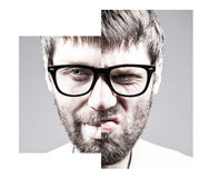 Portrait of a adult man with facial expression Royalty Free Stock Photos