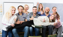 Portrait of adult students at class Royalty Free Stock Photo