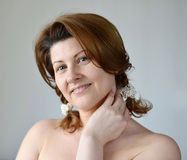 Portrait of an adult woman with bare shoulders Stock Photography