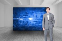 Portrait af a charismatic businessman standing Stock Photos
