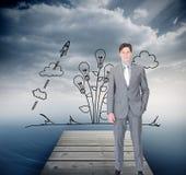 Portrait af a charismatic businessman standing Stock Image