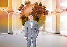 Portrait af a charismatic businessman standing Stock Images