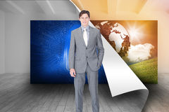 Portrait af a charismatic businessman standing Royalty Free Stock Photo