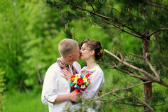 Portrait of affectionate couple Stock Photo