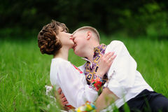 Portrait of affectionate couple Royalty Free Stock Images