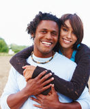 Portrait of an affectionate young couple outdoors Royalty Free Stock Images