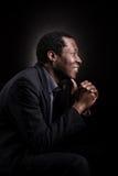 Portrait africain beau de studio d'homme de couleur images libres de droits