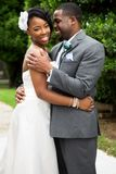 African American bride and groom. Portrait of an African American bride and groom Stock Photography
