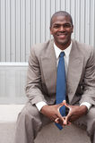 Portrait of an African American businessman Stock Photos