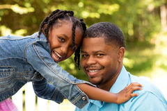 Portrait of an African American family. stock photos