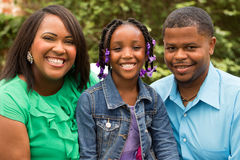 Portrait of an African American family royalty free stock images