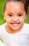 Portrait of an African American girl Stock Images