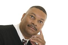 Portrait of African American male Stock Photos