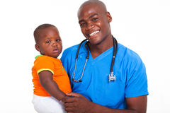 African pediatrician patient Stock Photography