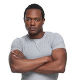 African American Man with Arms Crossed Stock Image