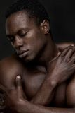 African American Man in Sensual Pose Royalty Free Stock Photos