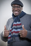Portrait of African American man with thumbs up Royalty Free Stock Photos