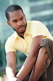 Portrait of an African American Outdoors Stock Photography
