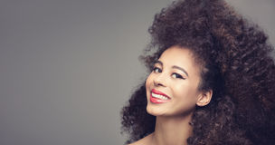 Portrait of african american retro girl. Royalty Free Stock Photography