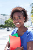 Portrait of an african american student in the city Royalty Free Stock Image