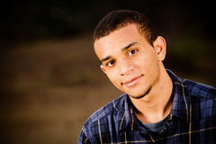 Portrait of African-American teenager Stock Images