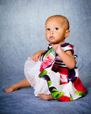 Portrait of African American toddler Royalty Free Stock Photos