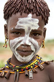 Portrait of the African boy. Royalty Free Stock Images