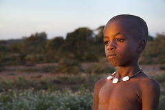 Portrait of the African boy. Royalty Free Stock Photography