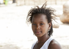 Portrait of an african girl Stock Images