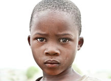 Portrait on an African girl of Masai  tribe village Royalty Free Stock Photos