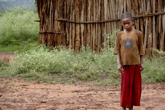 Portrait of the African girl. Stock Images
