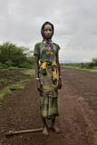 Portrait of the African girl. Royalty Free Stock Images