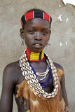 Portrait of the African girl. Royalty Free Stock Image