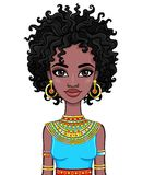 Portrait of an African girl. Vector illustration isolated on a white background royalty free illustration
