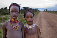 Portrait of the African girls. Stock Photos