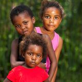 Portrait of african kids outdoors. Stock Photos