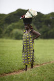 Portrait of an african lady wearing things on her head Stock Image