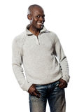 Portrait of african man in casual wear smiling Royalty Free Stock Photography