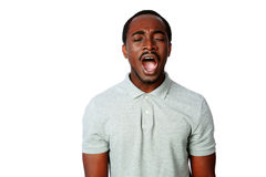 Portrait of african man shouting Royalty Free Stock Photo