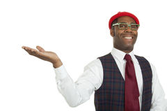 Portrait african man on white background Royalty Free Stock Photo