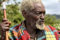 Portrait of the African old man. Royalty Free Stock Images